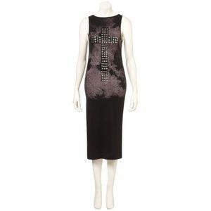 Topshop black studded cross dress